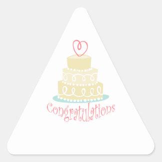 Congratulations Cake Triangle Sticker