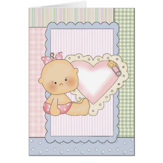 Congratulations Card: Baby Girl With Heart Card