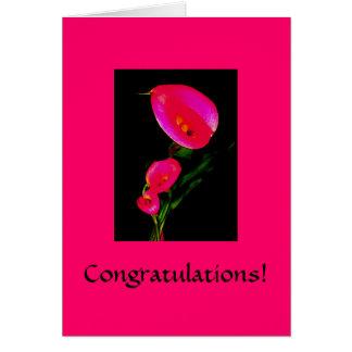 Congratulations! Card ~ Calla Fantasy Pink 2