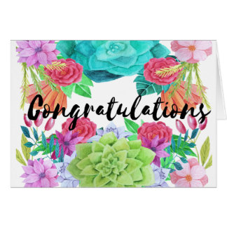 Congratulations Card - custom floral card