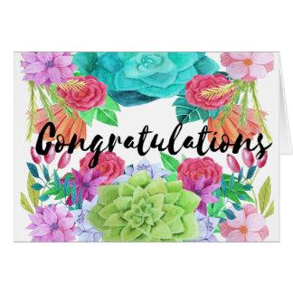 Congratulations Card - custom floral card