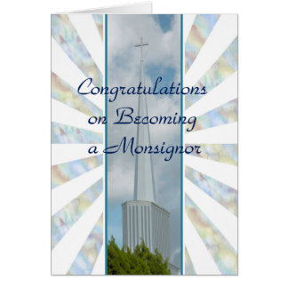 Congratulations Card for a Reverend Monsignor