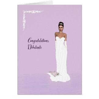 Congratulations Card for Debutante