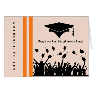Congratulations Card for Degree in Engineering