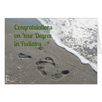 Congratulations Card for Degree in Podiatry