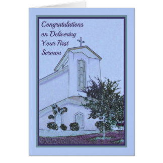 Congratulations Card for Delivering First Sermon
