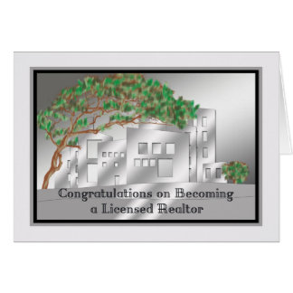 Congratulations Card for New Licensed Realtor