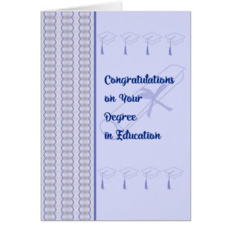 Congratulations Card on a Degree in Education
