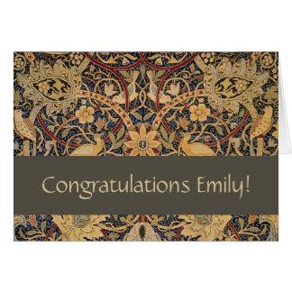 Congratulations Card William Morris Bullerswood
