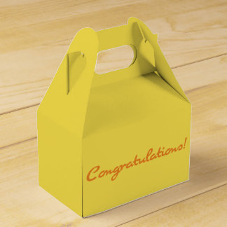 Congratulations! Casual Autumn Orange Script Favor Box