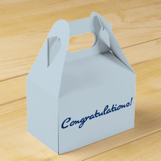 Congratulations Casual Dark Blue Script Favor Box