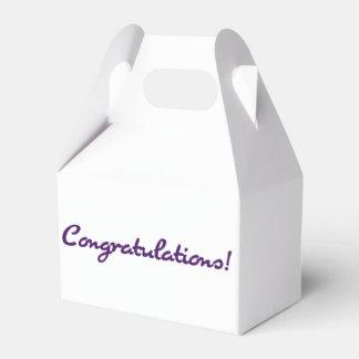 Congratulations! Casual Dark Purple Script Favor Box