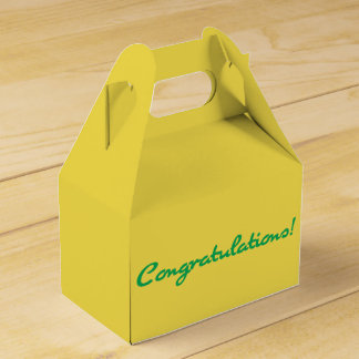 Congratulations Casual Green Script Favor Box