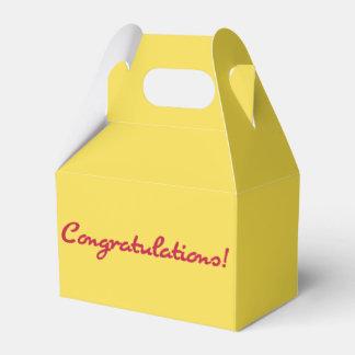 Congratulations Casual Red Script Favor Box