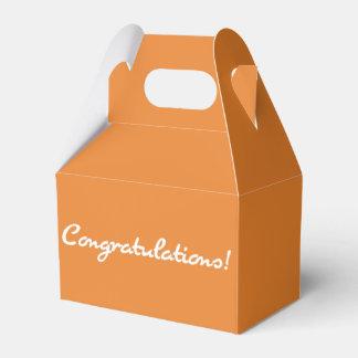 Congratulations Casual White Script Favor Box