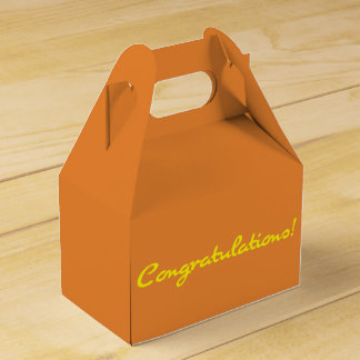 Congratulations Casual Yellow Script Favor Box