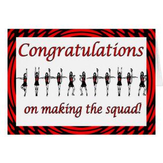 Congratulations Cheerleader squad cheer team Card