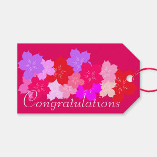 Congratulations Cherry Blossoms Gift Tags