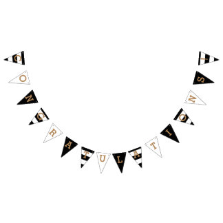 Congratulations | Chic Stripes Bunting Flags