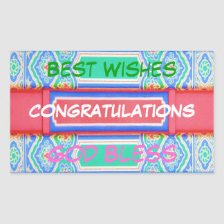 CONGRATULATIONS  - Chinese Lucky Pattern Sticker