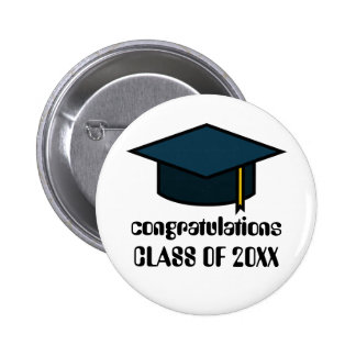 Congratulations Class of  2017 Graduation Button