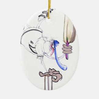 congratulations - cricket, tony fernandes ceramic oval ornament