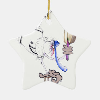 congratulations - cricket, tony fernandes ceramic star ornament