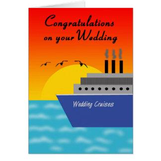 Congratulations Cruise Ship Wedding Greeting Card