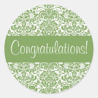 Congratulations Damask Envelope Seal