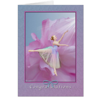 Congratulations, Dance Recital, Ballerina Card