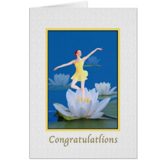 Congratulations, Dancing Water Sprite Card