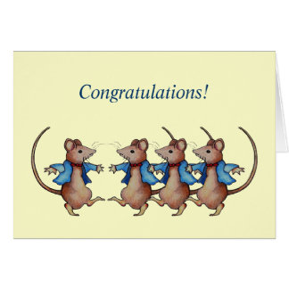 Congratulations: Done Things Your Own Way: Mice Card