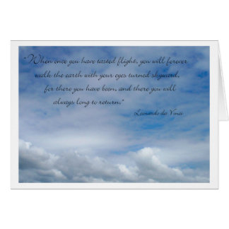 Congratulations Earning Your Wings da Vinci Quote Greeting Card