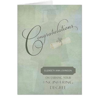 Congratulations Engineering Degree Graduate w-name Card