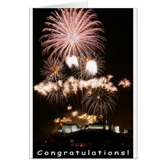 Congratulations Fireworks! Card