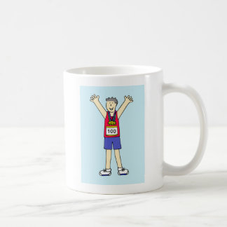 Congratulations for a man on 100th Marathon. Coffee Mug