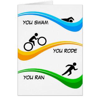 Congratulations for finishing a Triathlon! Card