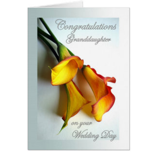 Congratulations for Granddaughter on Wedding Day Card
