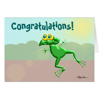 Congratulations Frogs Card