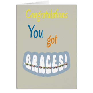 Congratulations Getting Braces - Braces Smile Boy Card