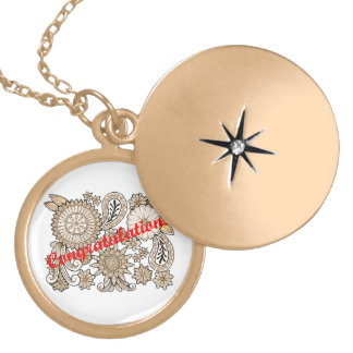 Congratulations Gold Plated Necklace