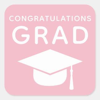 Congratulations Grad Pink Graduation Stickers