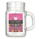 Congratulations Graduate Girly Flowers Graduation Mason Jar