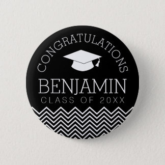Congratulations Graduate Graduation CAN EDIT COLOR 2 Inch Round Button