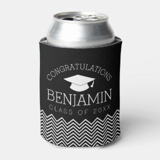 Congratulations Graduate Graduation Cap EDIT COLOR Can Cooler