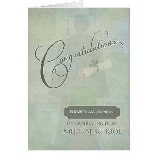 Congratulations Graduate Medical School  Name Card