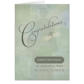 Congratulations Graduate Nursing Degree with Name Card
