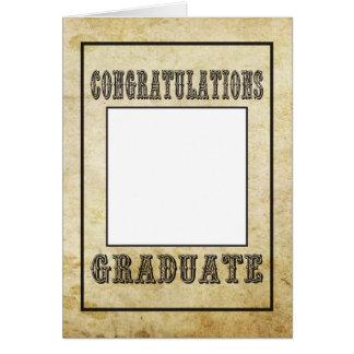 Congratulations Graduate, Old Western Style Card