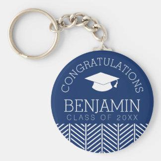 Congratulations Graduate - Personalized Graduation Basic Round Button Keychain