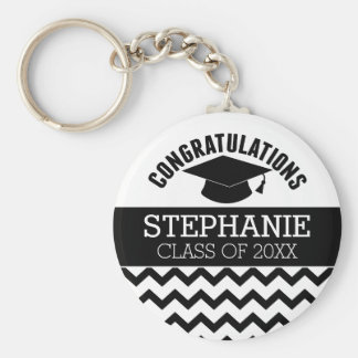 Congratulations Graduate - Personalized Graduation Basic Round Button Keychain